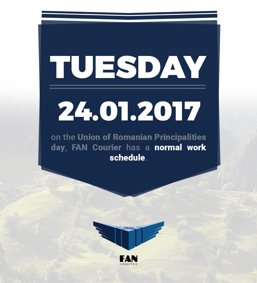 Normal working hours FAN Courier 24.01.2017